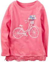 Carter's Knit Fashion Top - Pink - 3T