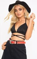 PrettyLittleThing Red Studded Belt