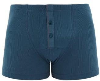 Hemen Biarritz - Albar Ribbed Organic Cotton-blend Boxer Briefs - Blue