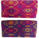 The Well Appointed House Hand Beaded Tribal Pattern Fold Over Clutch