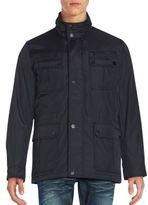 Michael Kors Solid Mockneck Jacket