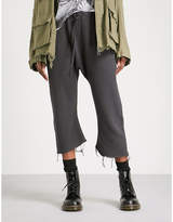 R 13 Field cropped cotton jogging bottoms