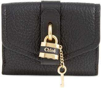 Chloé Aby Mini Trifold Leather Wallet