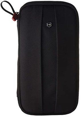 Victorinox Travel Organizer with RFID Protection (Black/Black Logo) Wallet