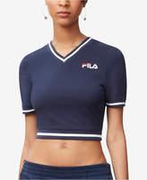 Fila Narla V-Neck Cropped T-Shirt
