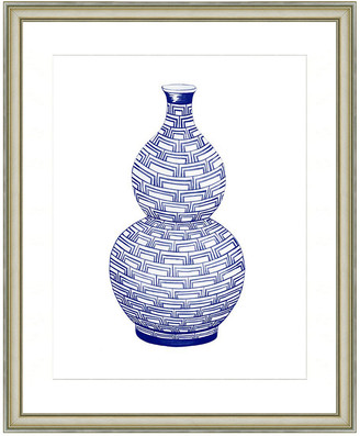 Vintage Print Gallery Fine Chinoiserie Porcelain Vase Framed Print