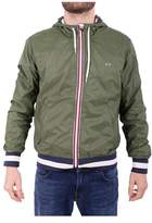 Sun 68 Men's Green Polyester Outerwear Jacket.