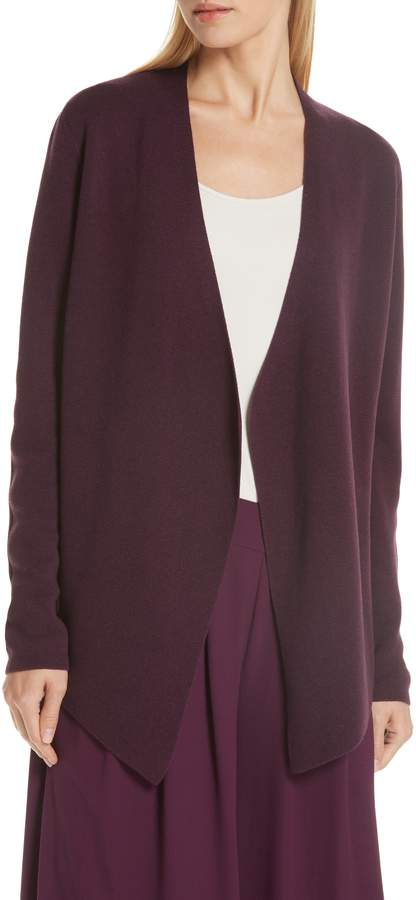 Eileen Fisher Angled Tencel(R) Lyocell & Silk Cardigan
