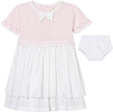 Emile et Rose Kamelia Pale Pink Knit Top and Embroidered Lawn Skirt Dress