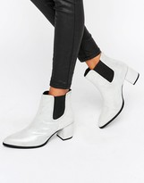 Park Lane Interest Material Heeled Chelsea Boots