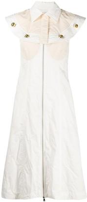 Moncler 2 Genius 1952 cape detail midi dress