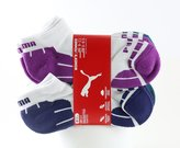 Puma Women's Low Cut Sport Socks - Pack of 6 Pairs ( and Purple/Teal/Magenta)