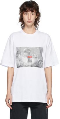 MSGM White Logo Monkey Graphic T-Shirt