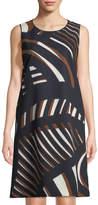 Lafayette 148 New York Geometric-Print A-line Dress