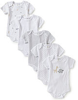 Starting Out Baby Boys Newborn-6 Months 5-Pack Animal-Applique Star Print Bodysuits