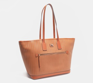 Dooney & Bourke Camden Leather Woven Embossed Large Tote