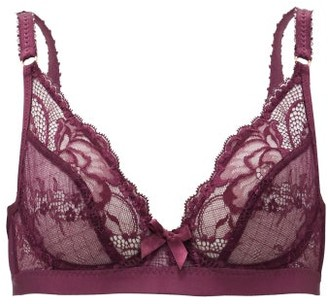 Agent Provocateur Carmelia Lace And Tulle Underwired Bra - Burgundy