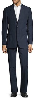 Burberry Standard-Fit Striped Cotton-Blend Suit