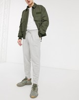 Asos Design DESIGN tapered joggers with pleats in light grey