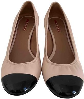 Prada Pink Leather Heels