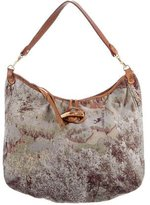 MZ Wallace Graphic Print Velvet Shoulder Bag