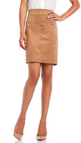 Max Studio Luxe Faux Suede Skirt