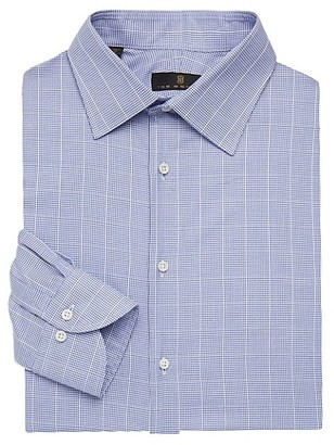 Ike Behar Regular-Fit Graph Check Dress Shirt