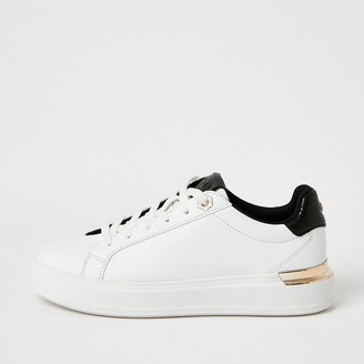 River Island White lace-up chunky platform trainers