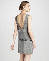 Parker Sequined Drop-Waist Dress