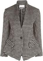 Etoile Isabel Marant Black Check Wool Lardy Blazer