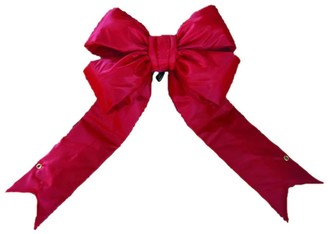 Vickerman Red Nylon 60-inch x 75-inch Outdoor Bow with 14-inch Ribbon