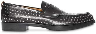 Burberry D-ring Detail Studded Leather Loafers