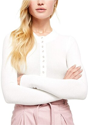 Free People One Of The Girls Henley (Ivory) Women's Clothing