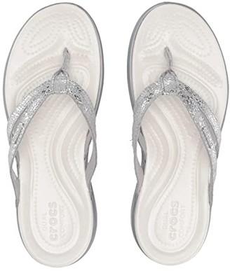 Crocs Capri Strappy Flip (Silver/Silver) Women's Sandals