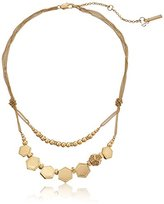 """Kenneth Cole New York Citrus Slice"""" Pave Geometric Bead Necklace, 15''+3'' Extender"""