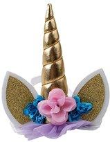 TraveT Baby Girls Elastic Flower Horn Hairband Unicorn Headdress Headband