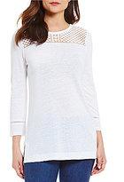 MICHAEL Michael Kors Dot Lace Yoke Knit Tunic