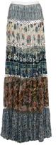 Roberto Cavalli Pleated Printed Maxi Skirt