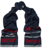 Just Cavalli Jacquard Wool-Blend Scarf