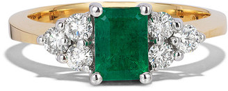 Effy Fine Jewelry 14K Two-Tone 1.36 Ct. Tw. Diamond & Emerald Ring