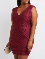 Charlotte Russe Plus Size Crochet Sheath Dress