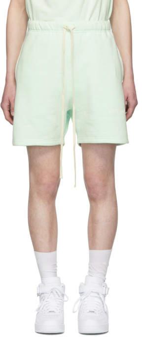 Essentials Green Fleece Shorts
