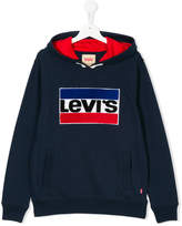 Levi's Kids logo patch hoodie