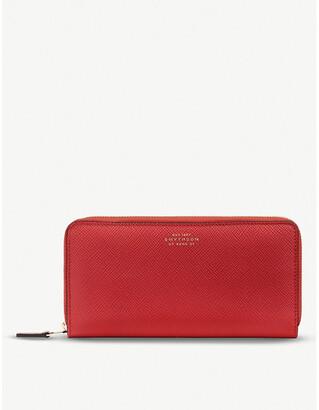 Smythson Panama large leather zip purse