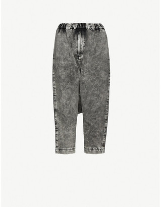 Black Comme Des Garcon Tapered high-rise jeans
