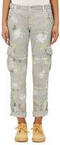 NSF Women's Paint-Splatter Cotton Cargo Pants-LIGHT GREY