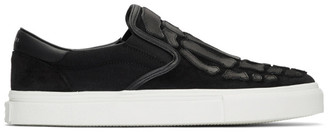 Amiri Black Skeleton Toe Slip-On Sneakers