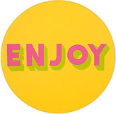 "Lisa Perry Reversible ""Enjoy"" Circular Placemat"