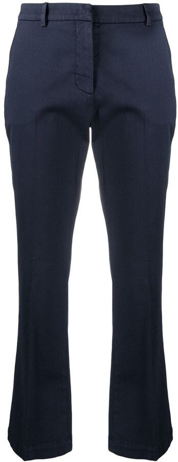 Pt01 Cropped Cotton-Blend Trousers