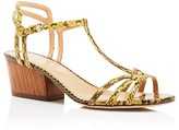 Sergio Rossi Paloma Python T-Strap Mid Heel Sandals - 100% Bloomingdale's Exclusive